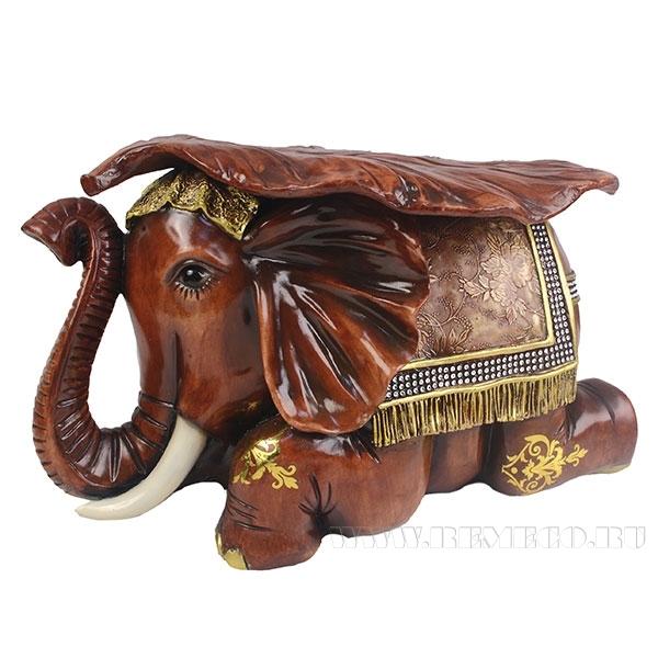 Изделие декоративное Слон(цвет красное дерево)L50W31H30см оптом
