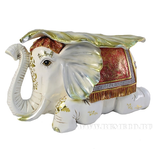 Изделие декоративное Слон (цвет слоновая кость)L50W31H30см оптом