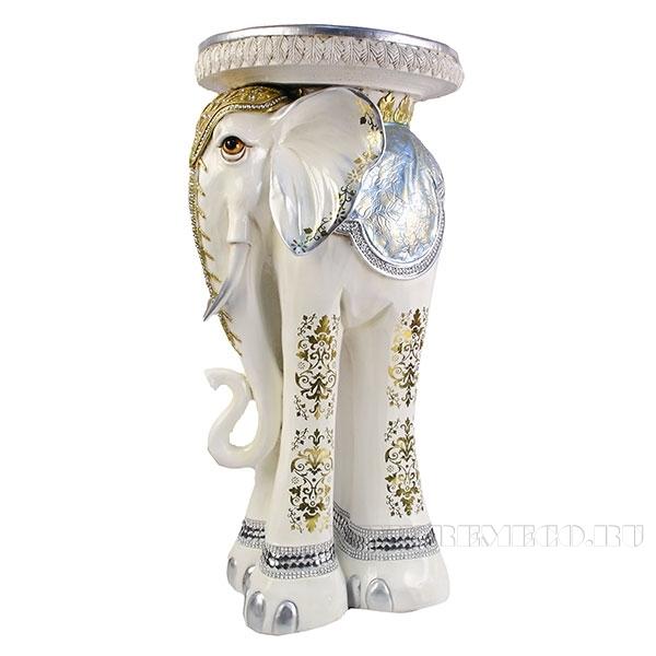 Изделие декоративное Слон (цвет слоновая кость)L35W35H73,5см оптом
