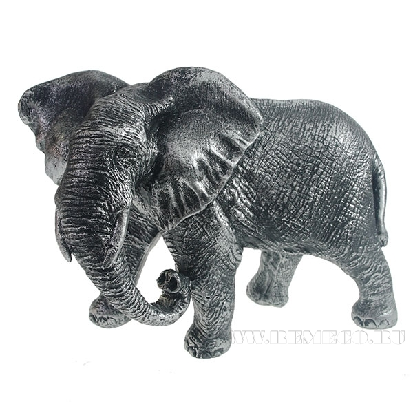 Фигура декоративная Слон африканский (серебро) L17,5W9H13см оптом
