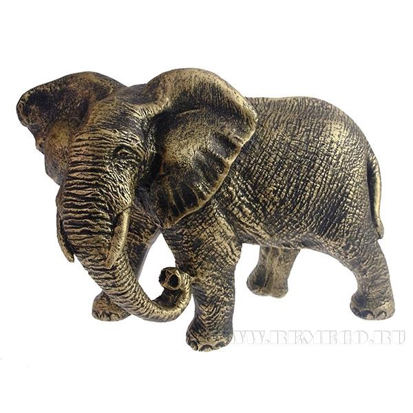 Фигура декоративная Слон африканский (брозна) L17,5W9H13см оптом