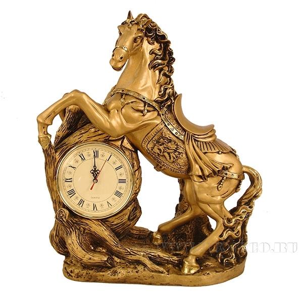 Композиция время Конь(золото) L48W22H55см оптом