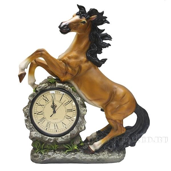 Композиция время Конь(круглые часы) (акрил))L39W17H51см оптом