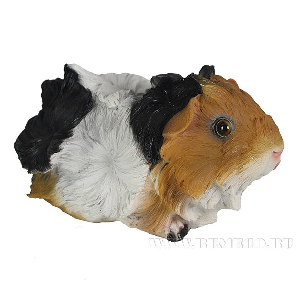 Фигура декоративная Морская свинка Розетка L21W13H12см оптом