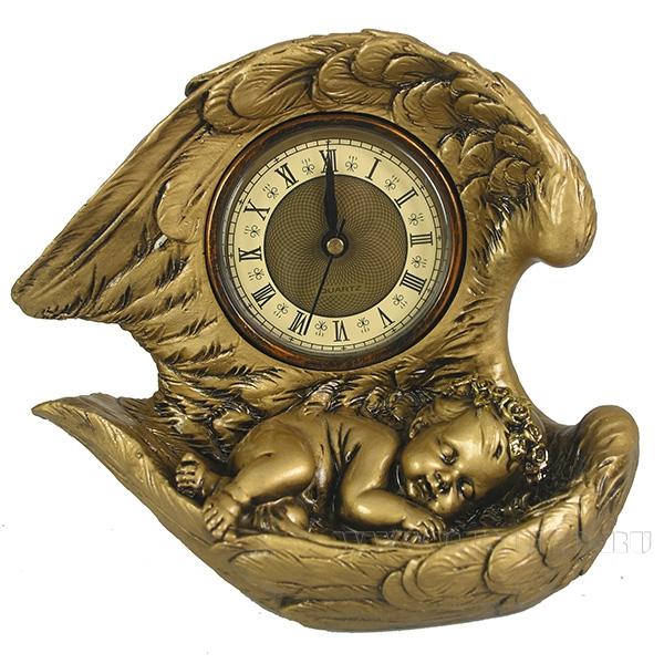 Композиция время Ангел(цвет золото)L20W10H18см оптом