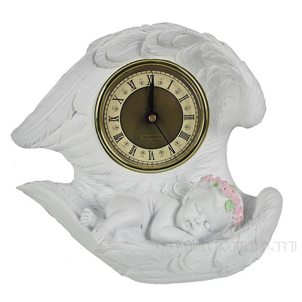 Композиция время Ангел(цвет белый)L20W10H18см оптом
