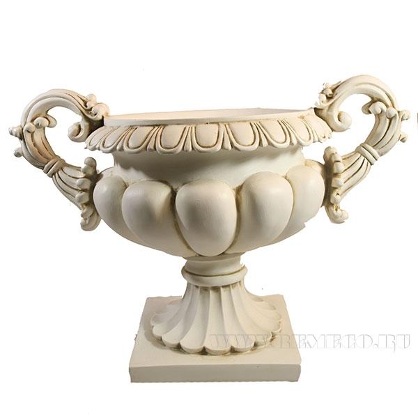 Изделие декоративное Чаша на подставке (цвет антик)L34.5W20.5H25см оптом