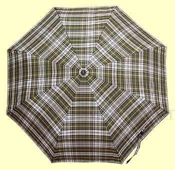 Зонт 2301 полный автомат, ручка-крюк (Клетка зеленая с белым) оптом