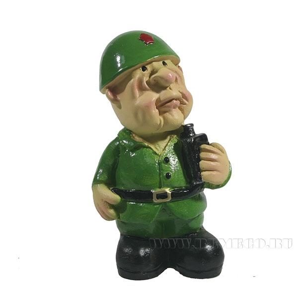 Фигура декоративная Солдат с флягой L5W4H8см оптом
