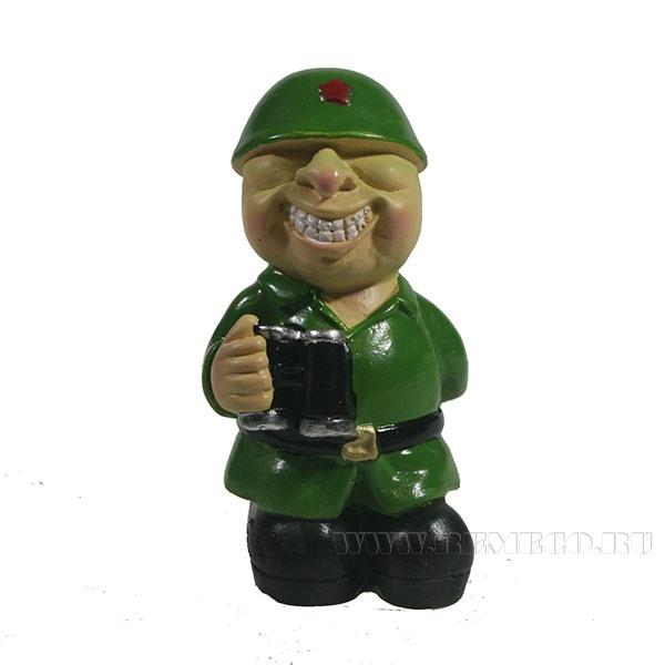 Фигура декоративная Солдат с биноклемL4,5W4H8,5см оптом