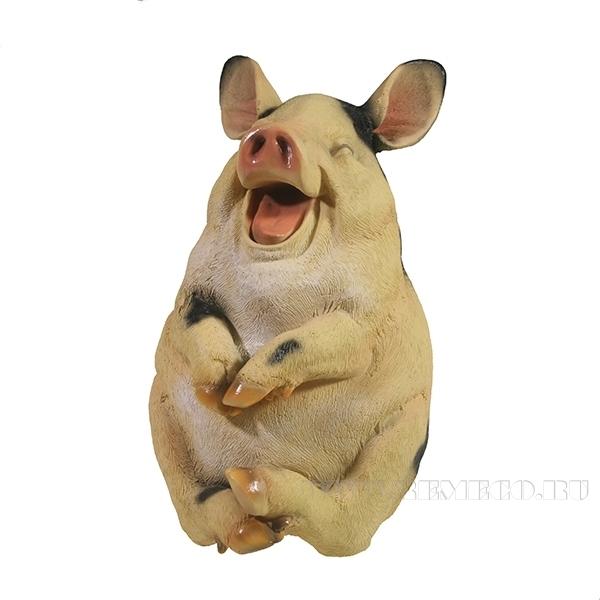 Фигура декоративная Свинка Туся L16W13H24 оптом