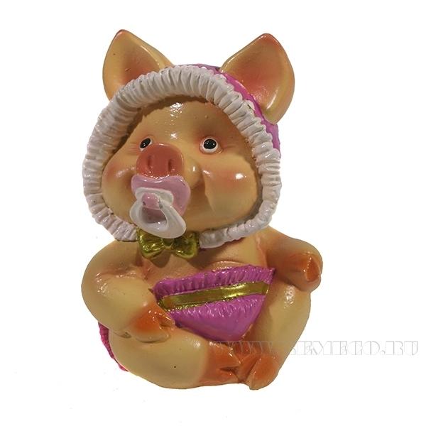 Фигура декоративная Свинка Кроха L6.5W5H9.5 оптом
