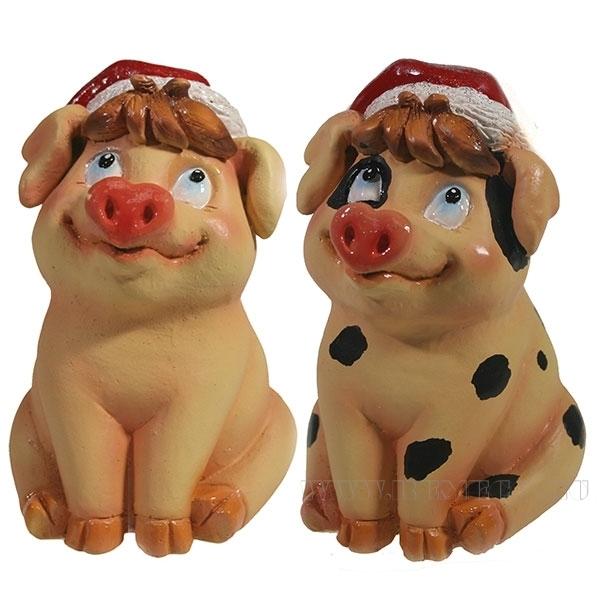 Фигура декоративная Свинка Фрося , L8W8.5H11.5, 2 в. оптом