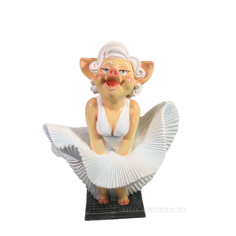 Фигура декоративная Свинка Мэрилин Монро , L17W13H24 оптом