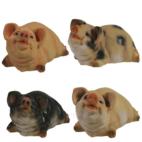 Фигура декоративная Свинка Мисс Хрю , L7.5W5H5, 4 в. оптом