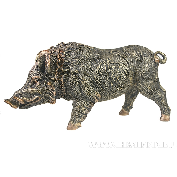 Фигура декоративная Кабан большой (бронза)L35W10H19 оптом