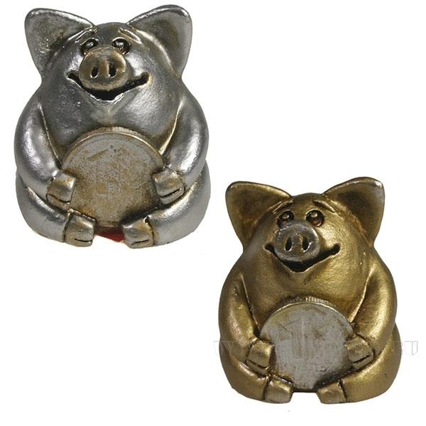 Фигура декоративная Свинка рубль бережет , L4.5W5H5, 2 в оптом