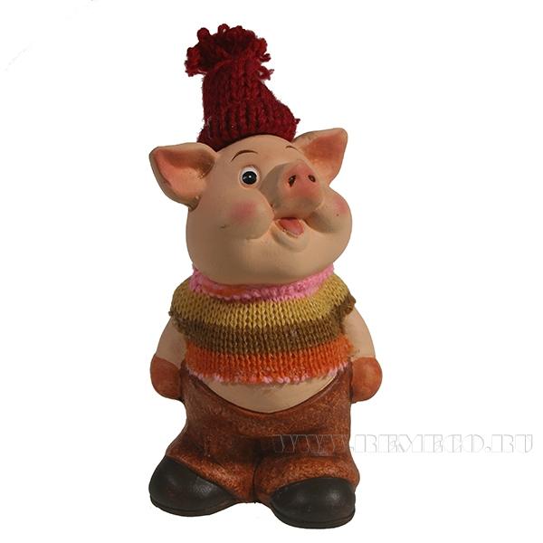Фигура декоративная Свин Тушенка L7.5W5.5H14.5 оптом