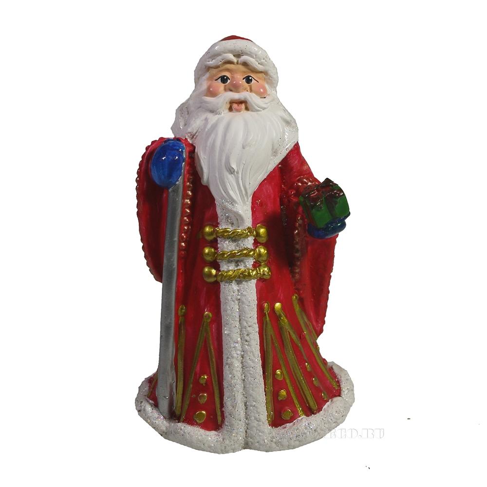 Фигура декоративная Дед Мороз в красной шубе L7.5W6H12 оптом