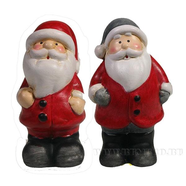 Фигура декоративная Дед Мороз в колпаке , L5W3.5H7, 2в. оптом