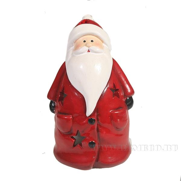Фигурка декоративная со светодиодной подсветкой Дед Мороз L11W9H15 оптом