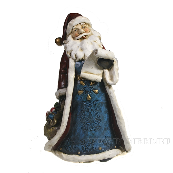 Фигура декоративная Дед Мороз с письмом L14.5W10.5H20.5 оптом