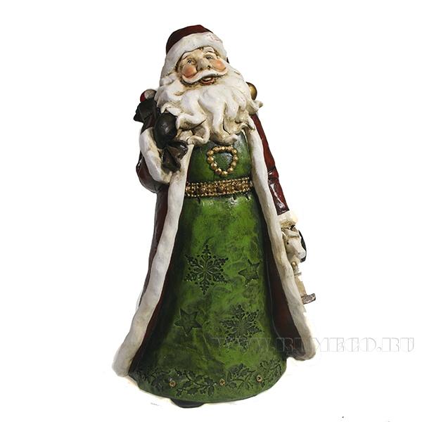 Фигура декоративная Дед Мороз с мешком на плече L14.5W10.5H20.5 оптом