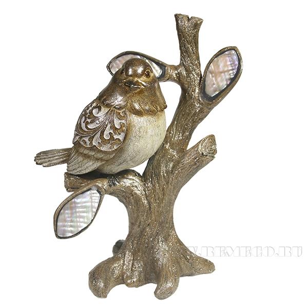 Фигурка декоративная Красивая птичка на ветке L18W8H20.5 оптом