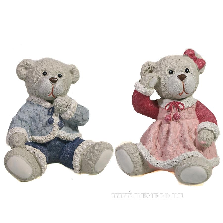 Фигура декоративная Мишка в платье , Медведь , L7.5W8H9.5, 2в. оптом
