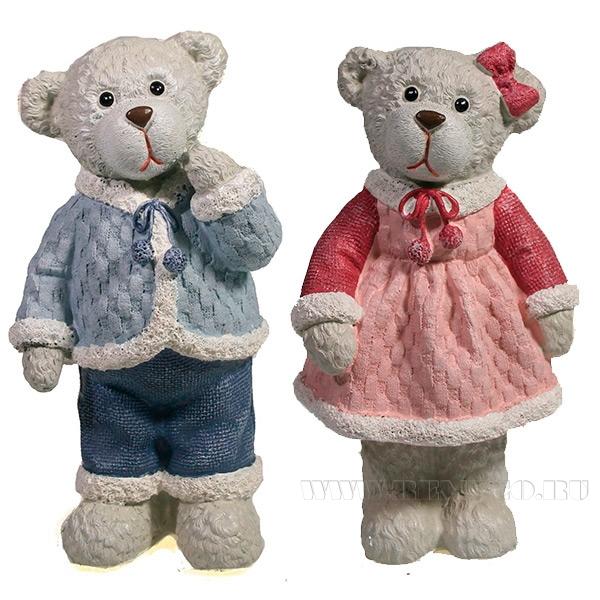 Фигура декоративная Мишка в платье , Медведь , L7.5W6.5H12.5, 2в. оптом