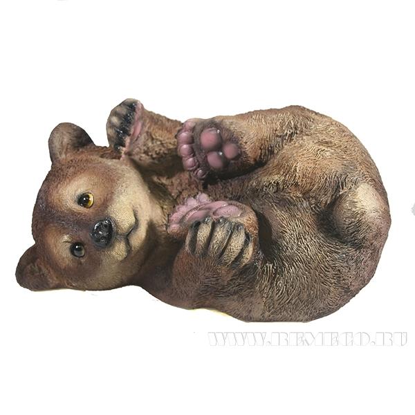 Фигура декоративная Мишка на боку L28W21H16,5см оптом