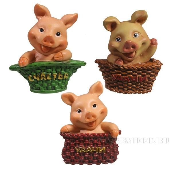 Магнит Свинка Удачи , Свинка Счастья , L5W1H6,5, 3в. оптом
