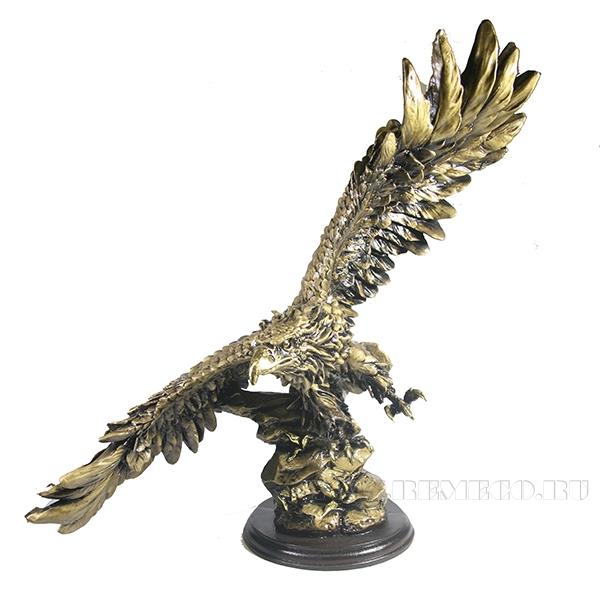 Фигура декоративная Орел (цвет золото)L49W28H49см оптом