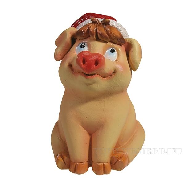 Фигура декоративная Свинка Фрося (розовая)L8W8.5H11.5 оптом