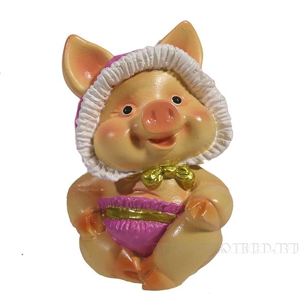 Фигура декоративная Свинка Няша(вид №2)L6.5W5H9.5 оптом