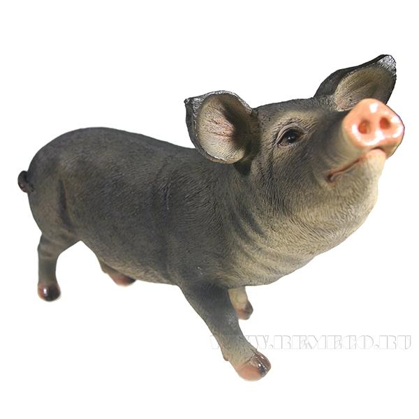 Фигура декоративная Свинка Шмося (вид №1) L27W12H19 оптом