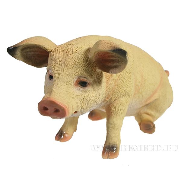 Фигура декоративная Свинка Брунгильда (вид №1)L26.5W14.5H13 оптом