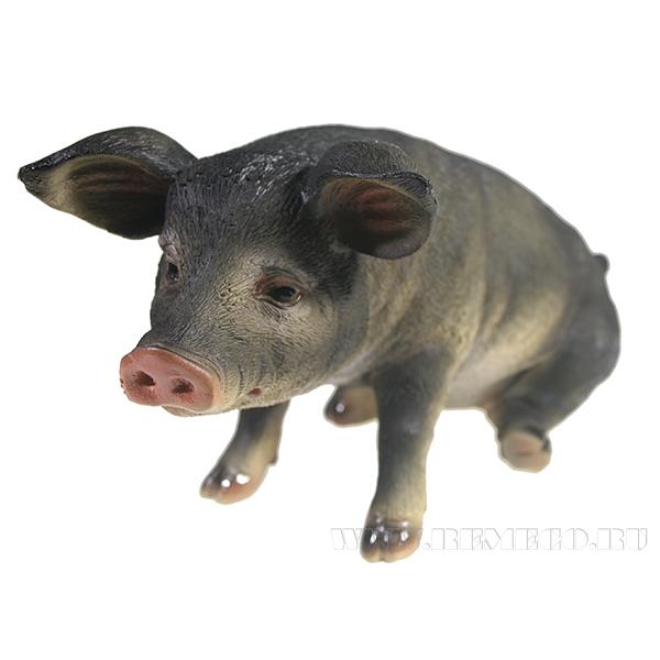 Фигура декоративная Свинка Брунгильда (вид №3)L26.5W14.5H13 оптом
