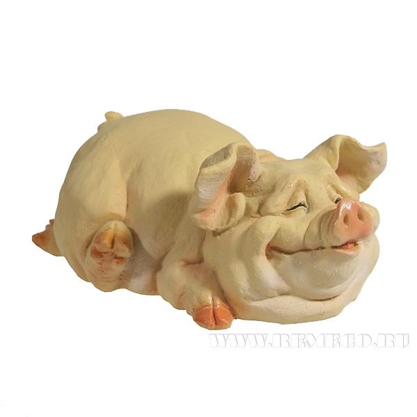 Фигура декоративная Свинка Пегги (вид №2)L13.5W9.5H10.5 оптом