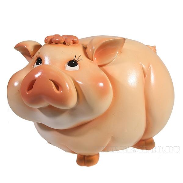 Копилка Свинка Мила (вид №1)L22W12H14 оптом