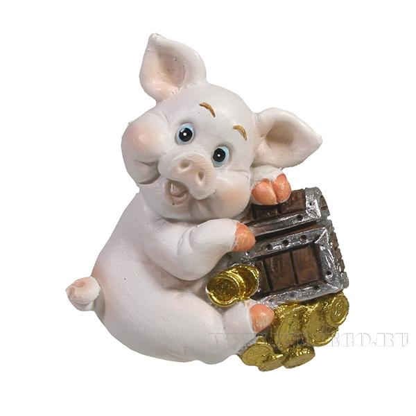 Магнит Свинка и сундук L4W1.5H5.5 оптом
