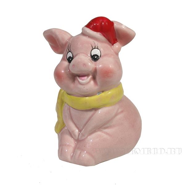 Фигура декоративная Свинка Плюшка L5.3W5.5H8.5 оптом