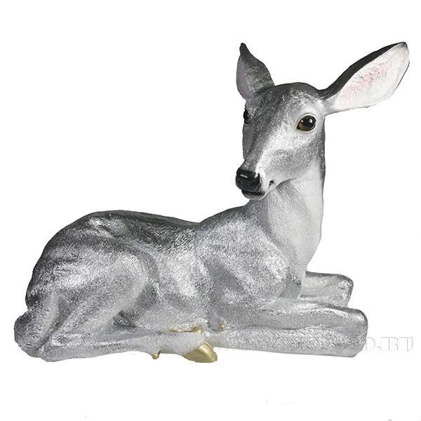 Фигура декоративная Олениха (серебро)l38.5W17H31 оптом