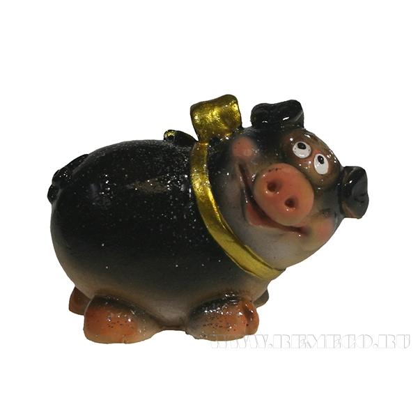 Фигура декоративная Свинка Малышка (вид №3)L5.5W3H3.5 оптом