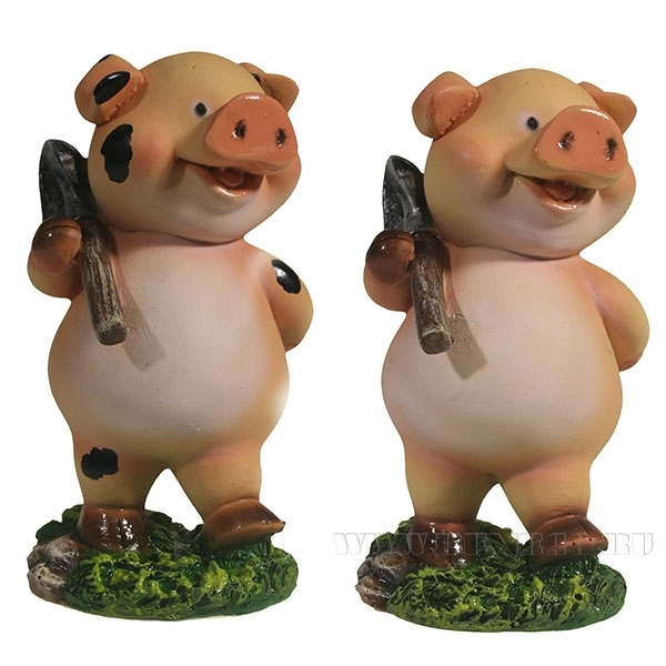 Фигура декоративная Дядя Свин , L5,5W6,5H10,5, 2 в. оптом