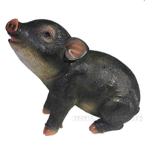 Фигура декоративная Свинка Нюша (вид №2)L23W11H18.5 оптом