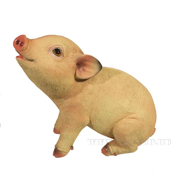 Фигура декоративная Свинка Нюша (вид №3)L23W11H18.5 оптом