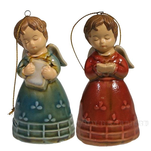 Декоративное изделие Подвеска Рождество , L4.5W4.5H8.5, 2в. оптом