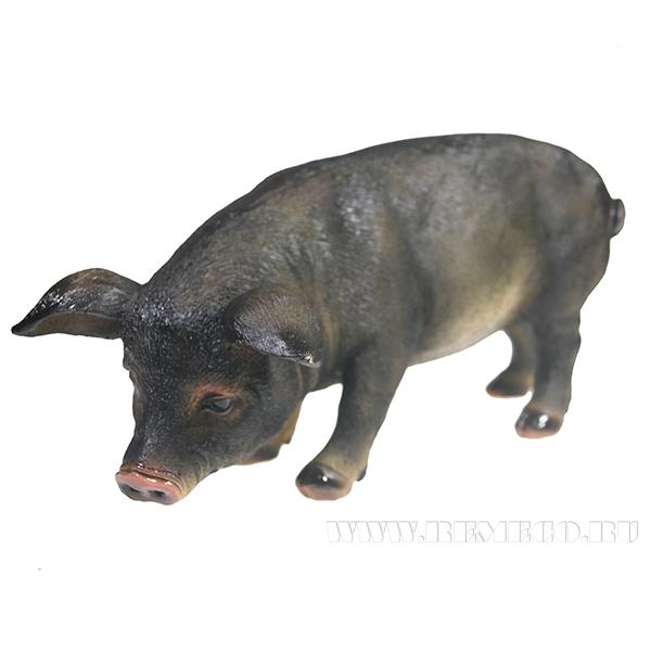 Фигура декоративная Свинка Фуся L29.5W12H13 оптом