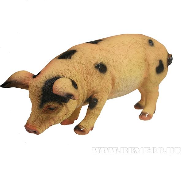 Фигура декоративная Свинка Фуся L29.5W12H13 (в пятнах) оптом